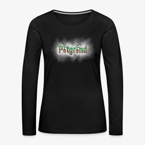 ''Potgrond'' met wolk! - Vrouwen Premium shirt met lange mouwen