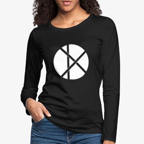 Don Logo - valkoinen - Naisten premium pitkähihainen t-paita