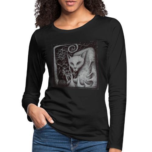 Elefante ed il Gatto - Maglietta Premium a manica lunga da donna