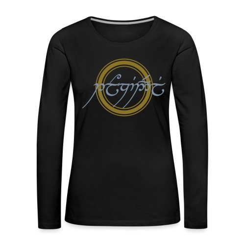 Tolkiendil en tengwar - T-shirt manches longues Premium Femme
