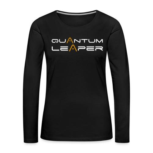 Quantum Leaper White - Women's Premium Longsleeve Shirt