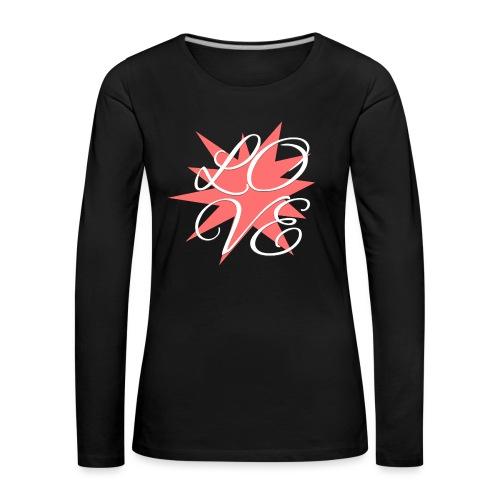 Love-rot-weiss - Frauen Premium Langarmshirt