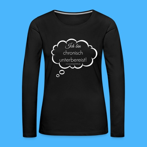 Denkblase Weiß Transparent - Frauen Premium Langarmshirt