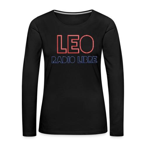 Léo Radio Libre png - T-shirt manches longues Premium Femme
