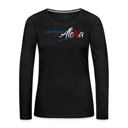 logo black version1 png - Women's Premium Longsleeve Shirt
