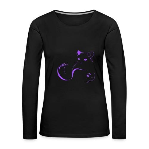logo erittain iso violettina 1 png - Naisten premium pitkähihainen t-paita