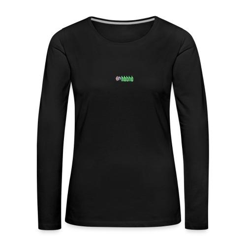 logo_5cf376eb5abb14f4abcd00e99d8a36be - Maglietta Premium a manica lunga da donna