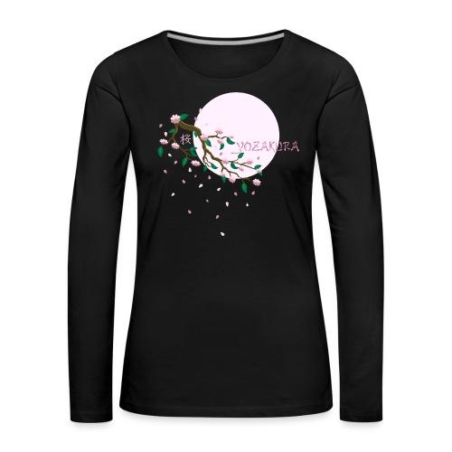 Cherry Blossom Festval Full Moon 1 - Frauen Premium Langarmshirt