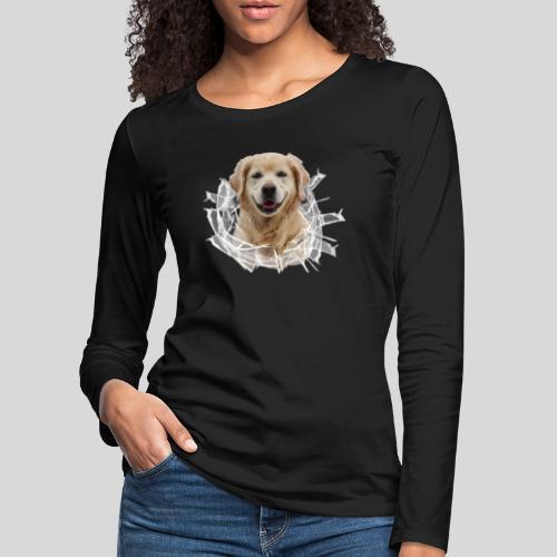 Golden im Glasloch - Frauen Premium Langarmshirt
