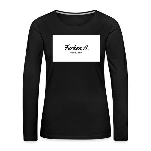 Furkan A - Zwarte sweater - Vrouwen Premium shirt met lange mouwen