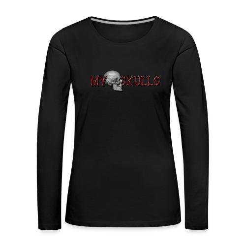 myskulls vorlage gross - Frauen Premium Langarmshirt