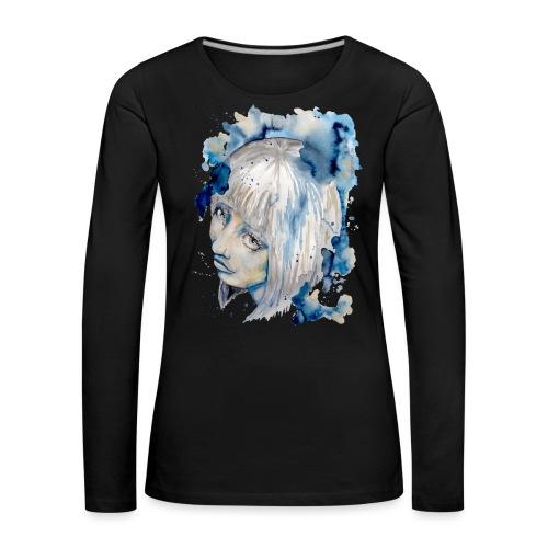 Nieves watercolorpainting by carographic - Frauen Premium Langarmshirt