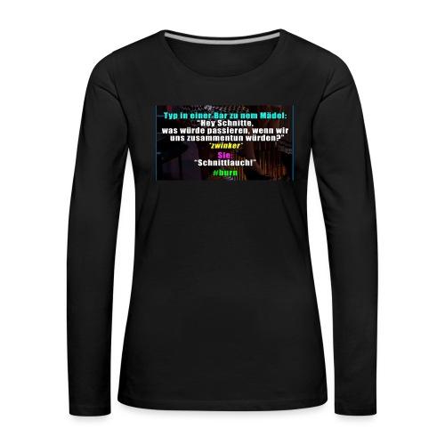 SchnitLauch - Frauen Premium Langarmshirt