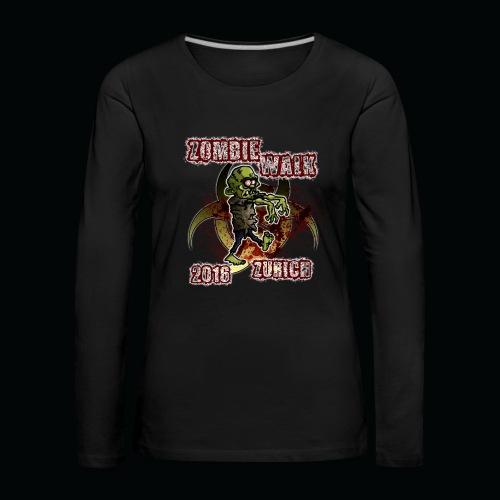 shirt zombie walk3 - Frauen Premium Langarmshirt