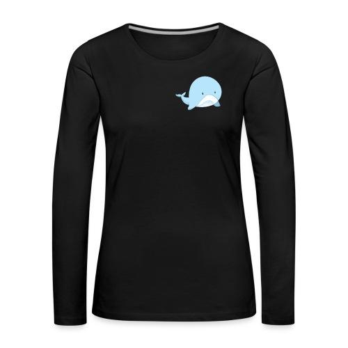 Whale - Maglietta Premium a manica lunga da donna