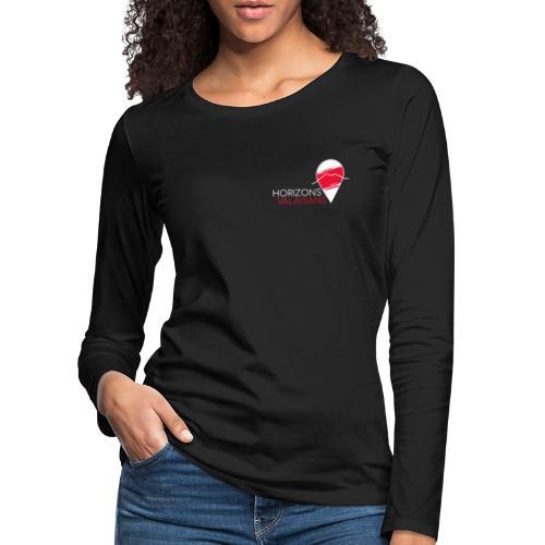 Horizons Valaisans (blanc) - T-shirt manches longues Premium Femme