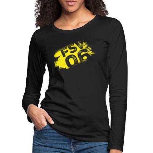 Hildburghausen FSV 06 Graffiti gelb - Frauen Premium Langarmshirt