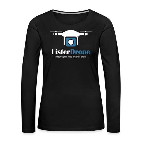 ListerDrone logo - Premium langermet T-skjorte for kvinner