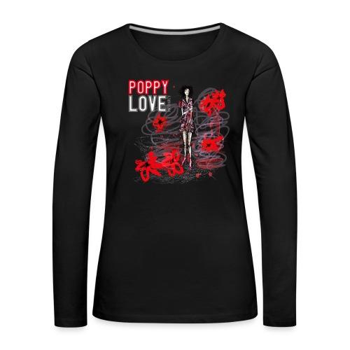 POPPY LOVE - Frauen Premium Langarmshirt