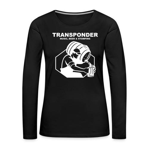 Transponder Music Beer Stomping - Frauen Premium Langarmshirt