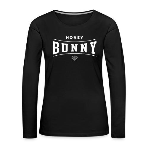 honey bunny1 - Koszulka damska Premium z długim rękawem