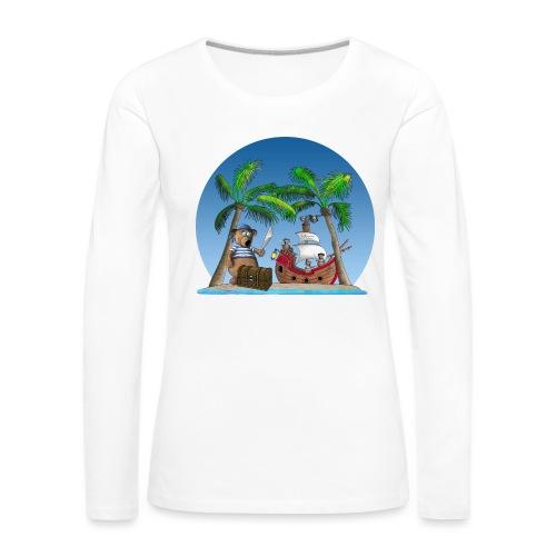 Pirat - Piratenschiff - Schatzinsel - Frauen Premium Langarmshirt