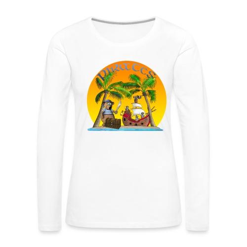 Piraten - Schatz - Frauen Premium Langarmshirt
