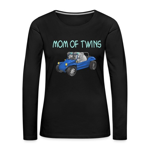 mom of twins - Frauen Premium Langarmshirt