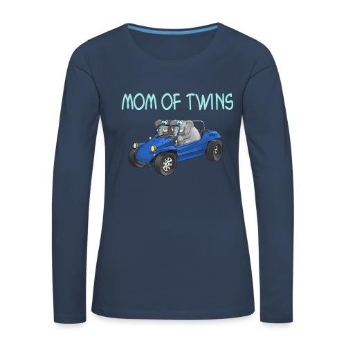 mom of twins - Frauen Premium Langarmshirt
