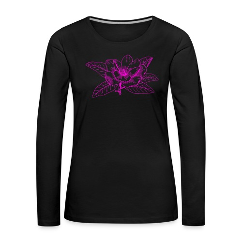 Camisetas y accesorios de flor color rosada - Camiseta de manga larga premium mujer