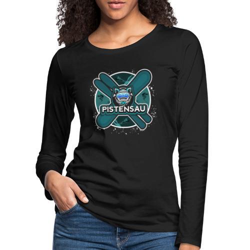 PistenSau Nervenkitzeljägergrün - Frauen Premium Langarmshirt