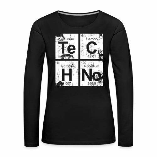 Dirty Techno Chemie - Frauen Premium Langarmshirt