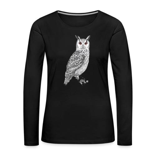 T-Shirt *Eule* - Frauen Premium Langarmshirt