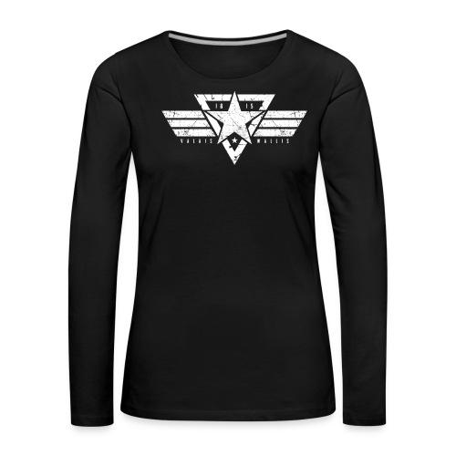 VALAIS WALLIS STAR - Frauen Premium Langarmshirt