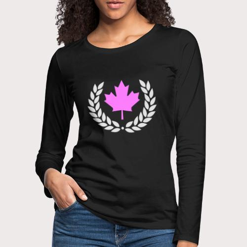 Canada Pink - Frauen Premium Langarmshirt
