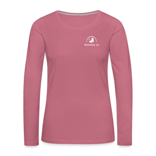 Logo-white - Naisten premium pitkähihainen t-paita