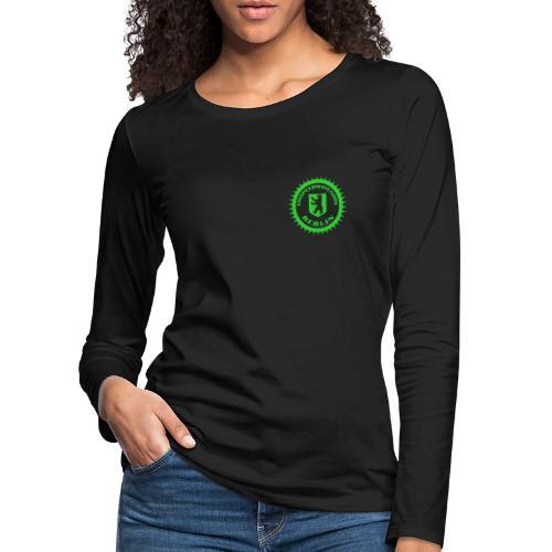 Logo klein ESU transp Green - Frauen Premium Langarmshirt