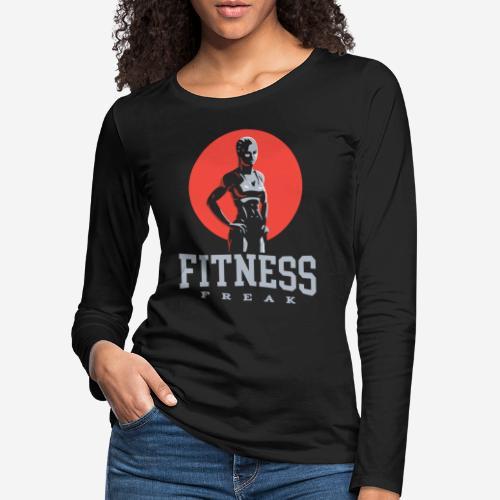 fitness freak gym - Frauen Premium Langarmshirt