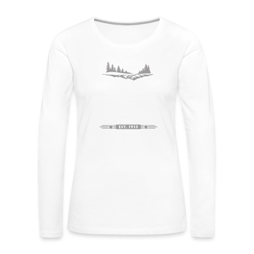 Rocky Mountain Nationalpark Berg Bison Grizzly Bär - Women's Premium Longsleeve Shirt