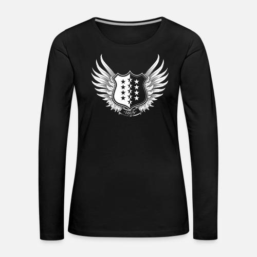 Walliser Wappen - Frauen Premium Langarmshirt