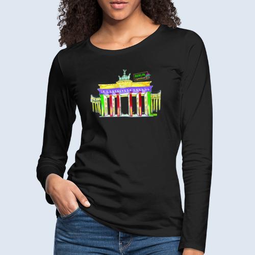 "Berliner ""Brandenburger Tor"" PopArt BLS Design - Frauen Premium Langarmshirt"