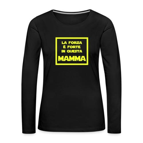 Mamma - La versione Jedi della mamma - Maglietta Premium a manica lunga da donna