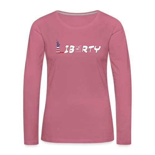 Liberty in a Guitar Chord - Chordword - Women's Premium Longsleeve Shirt