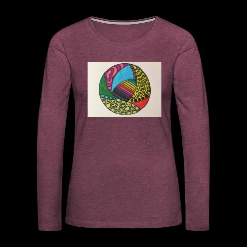 circle corlor - Dame premium T-shirt med lange ærmer