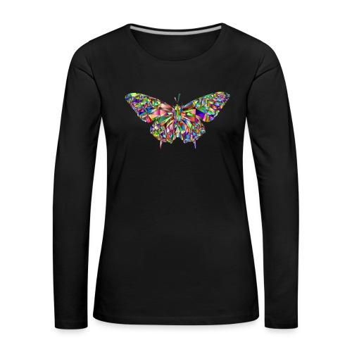 Geflogener Schmetterling - Frauen Premium Langarmshirt