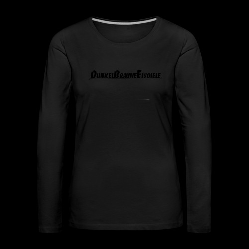 Dunkelbraune Eisdiele Black - Frauen Premium Langarmshirt