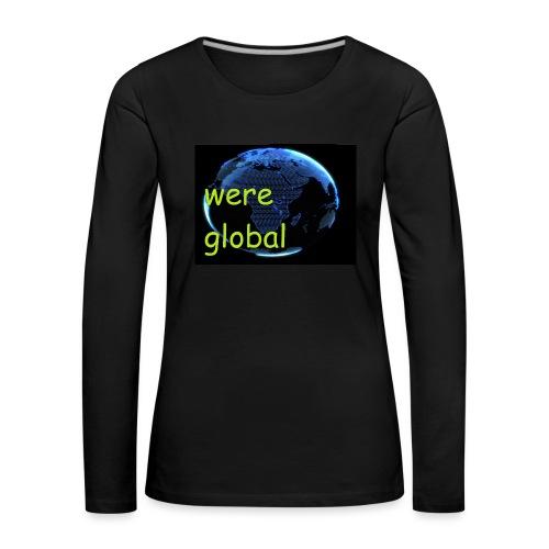 Were Global - Naisten premium pitkähihainen t-paita