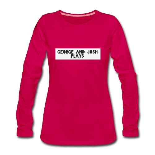 George-and-Josh-Plays-Merch - Women's Premium Longsleeve Shirt