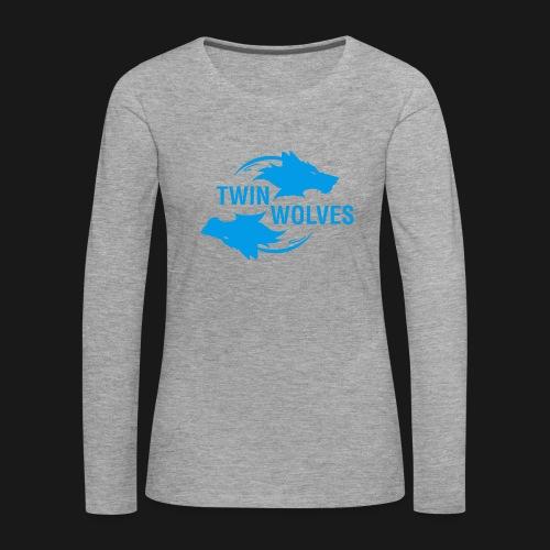 Twin Wolves Studio - Maglietta Premium a manica lunga da donna