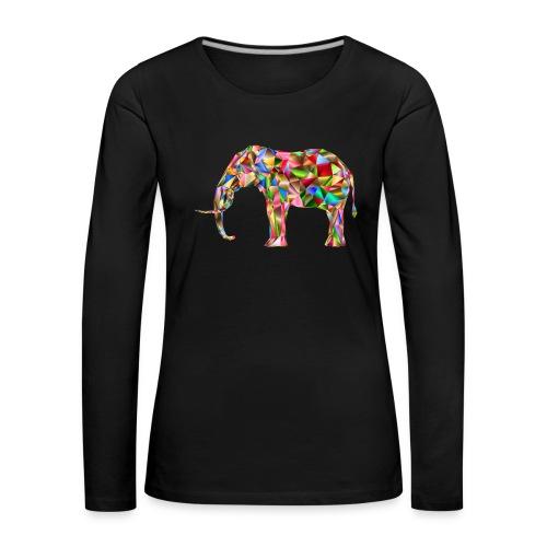 Gestandener Elefant - Frauen Premium Langarmshirt